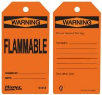 Warning Flammable Safety Tags