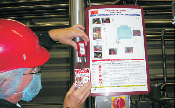 lockout tagout instructions