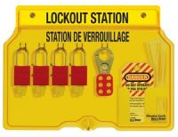 Aluminum 4 Lock French/English Padlock Station