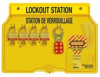 Laminated Steel 4 Lock French/English Padlock Station