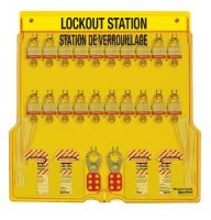 Laminated Steel 20 Lock French/English Padlock Station