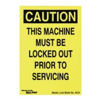Magnetic Lockout Sign