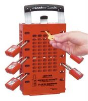 Latch-Tight ™ Red Group Lock Box - Portable or Wall Mount