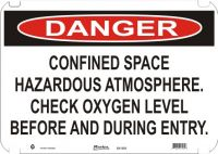 Danger Sign Confined Space Hazardous Atmosphere