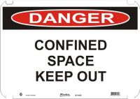 Danger Sign Confined Space Keep Out