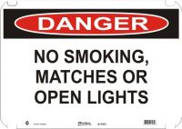 Danger Sign No Smoking, Matches Or Open Lights