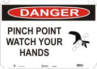 Danger Sign Pinch Point Watch Your  Hands