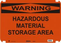 Warning Sign Hazardous Material Storage Area