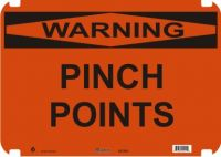 Warning Sign Pinch Points