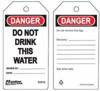 Danger Do Not Drink This Water Safety Tags