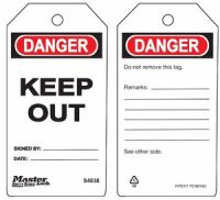 Danger Keep Out Safety Tags