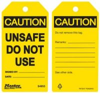 Caution Unsafe Do Not Use Safety Tags