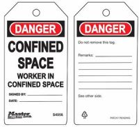 Danger Confined Space Worker In Confined Space Safety Tags