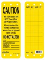 Caution Scaffolding Tag
