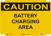 Caution Sign Battery Charging Area
