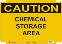 Caution Sign Chemical Storage Area