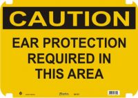Caution Sign Ear Protection Required In This Area