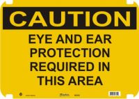 Caution Sign Eye And Ear Protection
