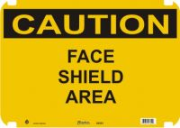 Caution Sign Face Shield Area