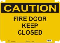 Caution Sign Fire Door Keep Closed