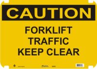 Caution Sign Forklift Traffic Keep Clear