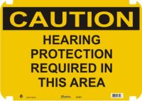 Caution Sign Hearing Protection Required In This Area