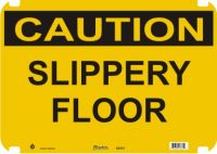 Caution Sign Slippery Floor